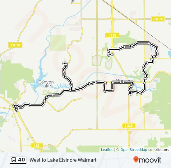 40 Route Time Schedules Stops Maps West To Lake Elsinore Walmart