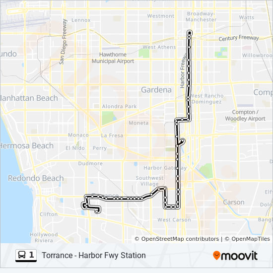 1 Route: Time Schedules, Stops & Maps