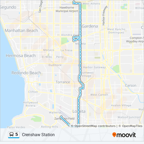 5 Route Time Schedules Stops Amp Maps Crenshaw Station