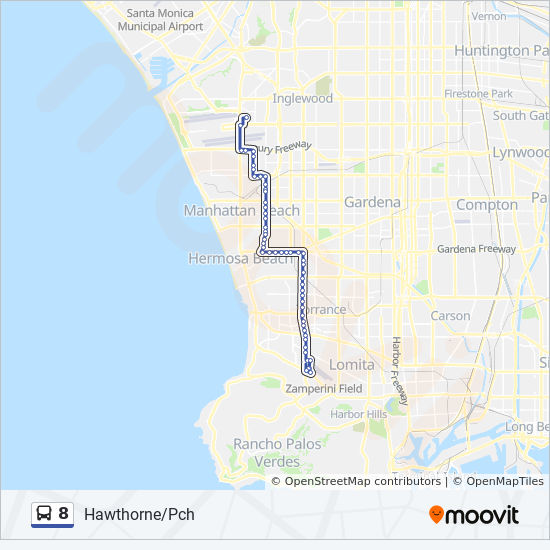 Hawthorne California Map.8 Route Time Schedules Stops Maps Hawthorne Pch