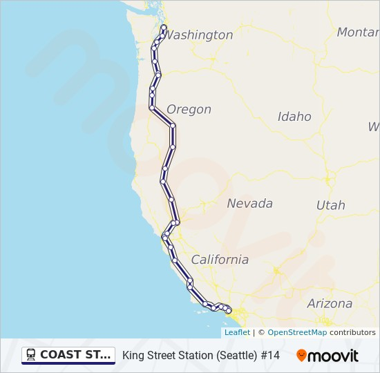 Coast Starlight Route Time Schedules Stops Maps King Street