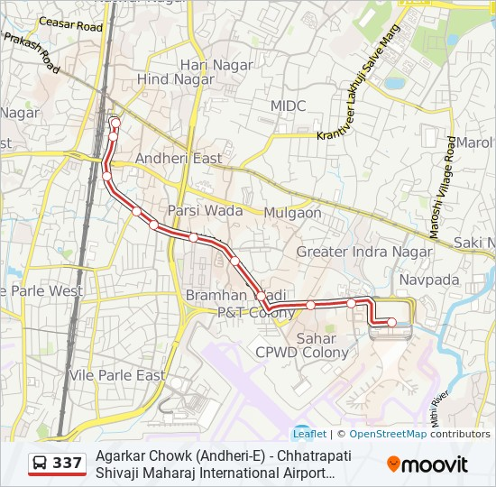 337 Route: Time Schedules, Stops & Maps - Agarkar Chowk