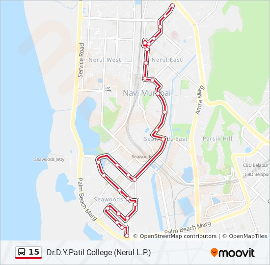 15 Route: Time Schedules, Stops & Maps - Nerul Sector 46/48