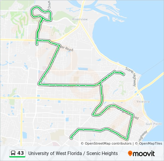 West Florida Map.43 Route Time Schedules Stops Maps Psc Transfer Station