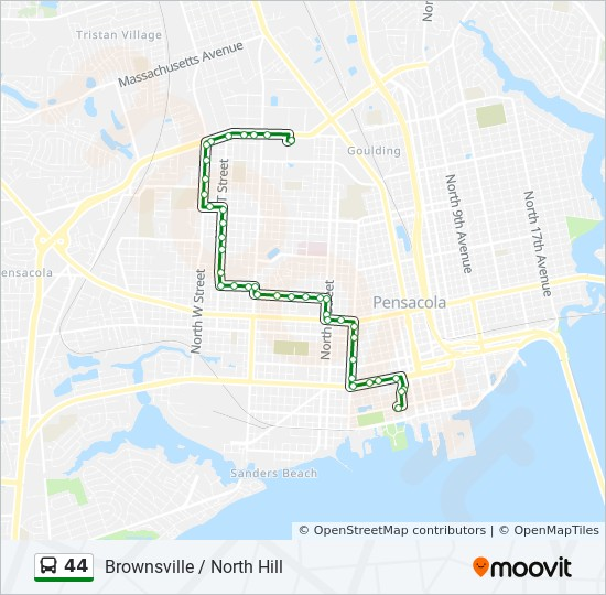 44 Route: Time Schedules, Stops & Maps - Downtown Transfer ... on map of downtown little rock ar, tourist map of pensacola fl, map of downtown paterson nj, map of pensacola and destin florida, map of downtown roseville ca, google map of pensacola fl, map of downtown plano tx, map of beaches fl, map of downtown traverse city mi, airport pensacola fl, map of downtown redwood city ca, map of downtown rockville md, map of pensacola christian college, streets in pensacola fl, map of downtown las vegas nv, map of downtown palm springs ca, map of downtown new bern nc, map of downtown santa barbara ca, road map of pensacola fl, map of downtown new orleans la,