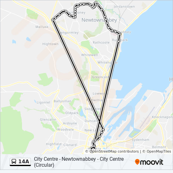 14a Route Schedules Stops Amp Maps City Centre