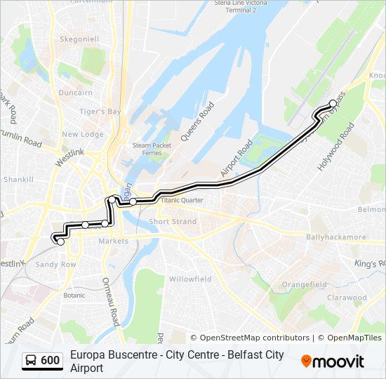 Belfast City Map on