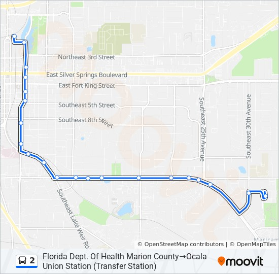 2 Route Time Schedules Stops Maps Florida Dept Of Health