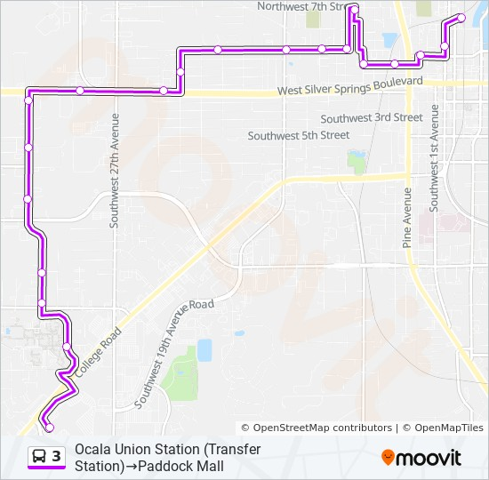 3 Route: Time Schedules, Stops & Maps - Ocala Union Station