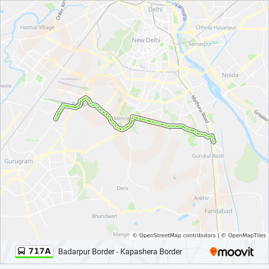717a Route Time Schedules Stops Amp Maps Badarpur Border