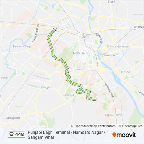 448 Route Time Schedules Stops Amp Maps Hamdard Nagar