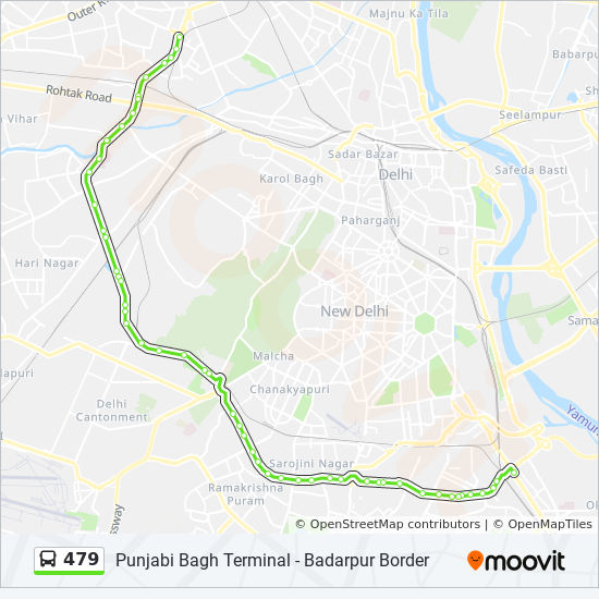 479 Route: Time Schedules, Stops & Maps - Badarpur Border
