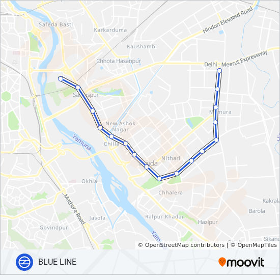 BLUE LINE Route: Time Schedules, Stops & Maps - Dwarka Sector 21