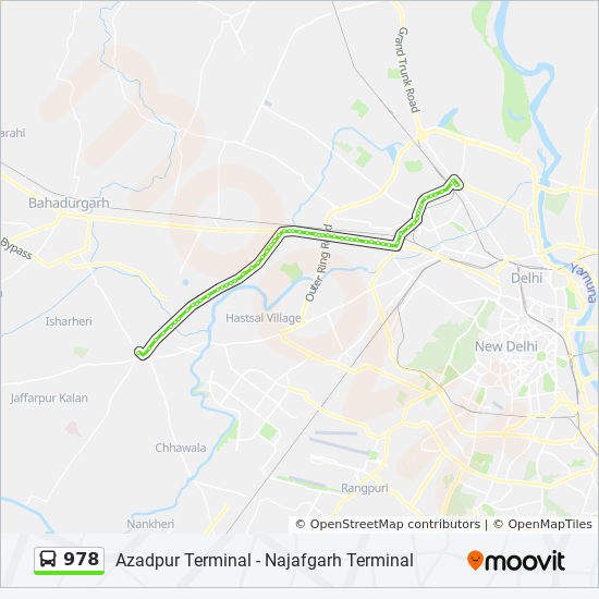 978 Route: Time Schedules, Stops & Maps - Azadpur Terminal on msn india, partition of india, research on india, five-year plans of india,