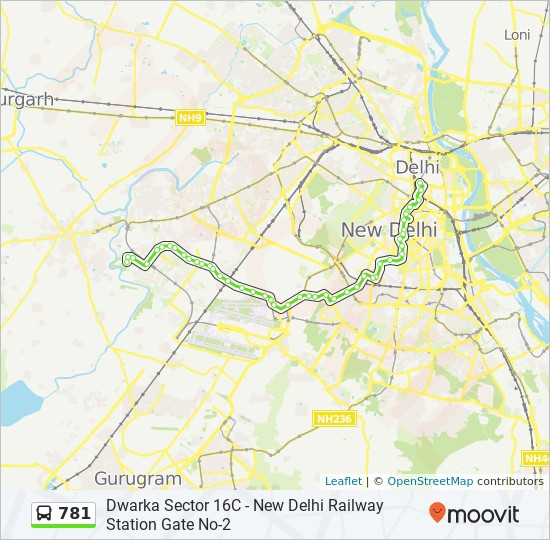 781 Route Time Schedules Stops Amp Maps Dwarka Sector 16 C