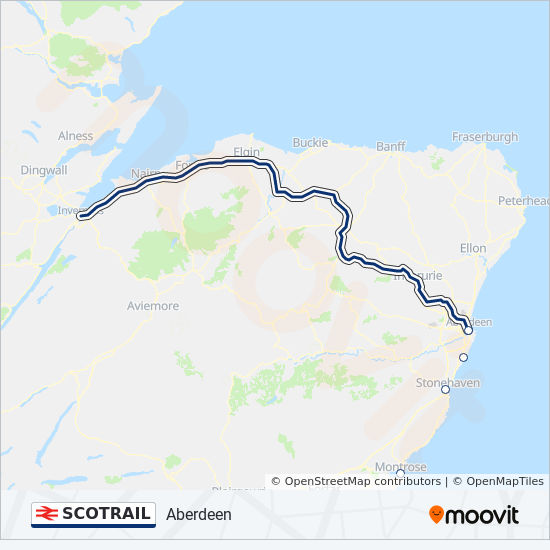 SCOTRAIL train Line Map