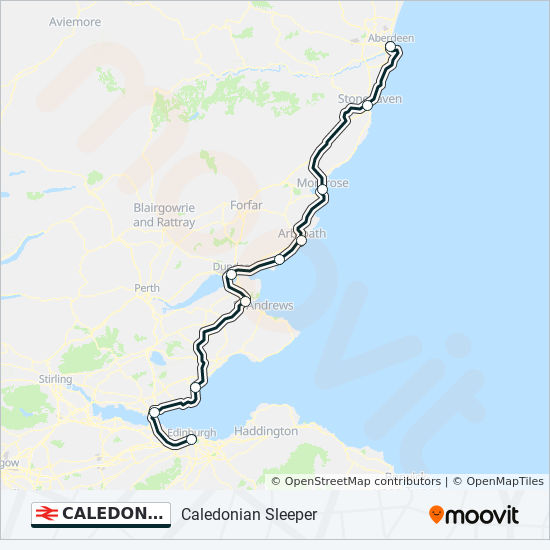 Caledonian Sleeper Route Schedules Stops Maps Inverness