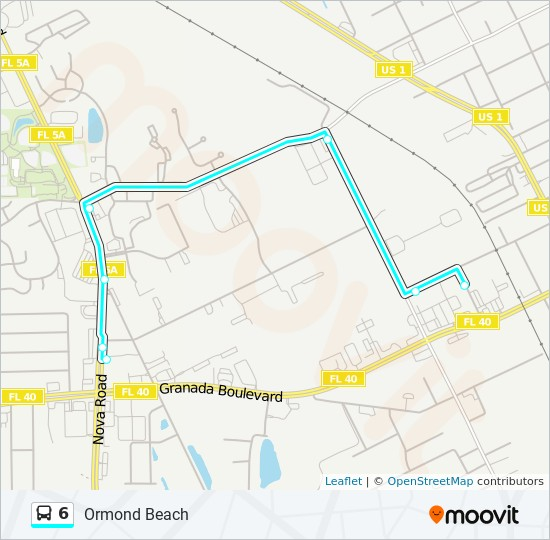 6 Route: Time Schedules, Stops & Maps - Ormond Beach