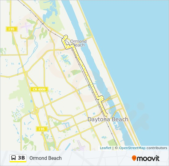 3B Route: Time Schedules, Stops & Maps - Ormond Beach on