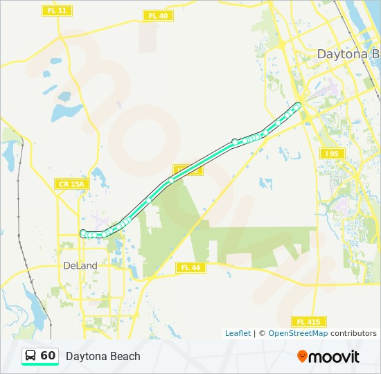 60 Route: Time Schedules, Stops & Maps - Daytona Beach on