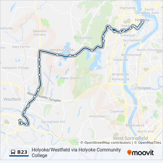 Holyoke Community College Campus Map.B23 Route Time Schedules Stops Maps Westfield Via Soldiers
