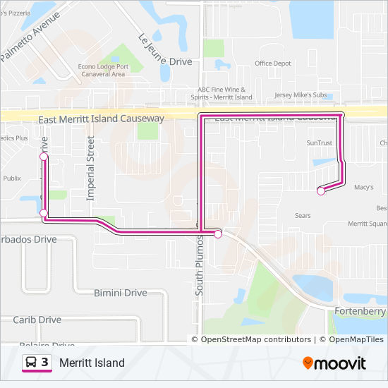 Map Of Merritt Island Florida.3 Route Time Schedules Stops Maps