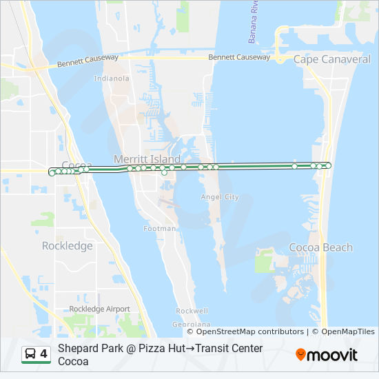 Cocoa Florida Map.4 Route Time Schedules Stops Maps