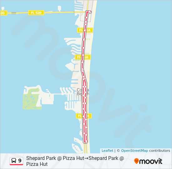 9 Route: Time Schedules, Stops & Maps - Shepard Park @ Pizza ... on myakka map, southwest gulf coast map, cape kennedy map, frostproof map, cape blanco map, cape hatteras map, canaveral groves map, beach in indialantic fl map, lake okeechobee map, gladeview map, cape cod map, great basin map, south daytona beach map, canaveral port authority map, florida map, canaveral barge canal map, st. augustine map, key west map, cape flattery map, the everglades map,