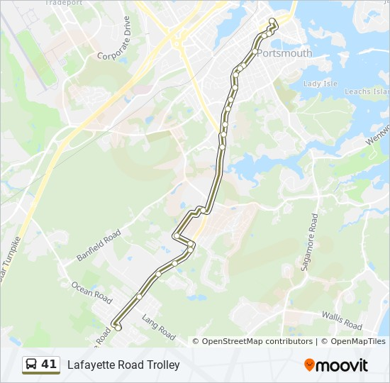41 Route: Time Schedules, Stops & Maps - Outbound
