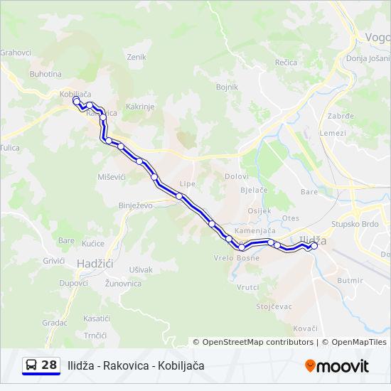 rakovica mapa Línea 28: horarios, mapas y paradas rakovica mapa