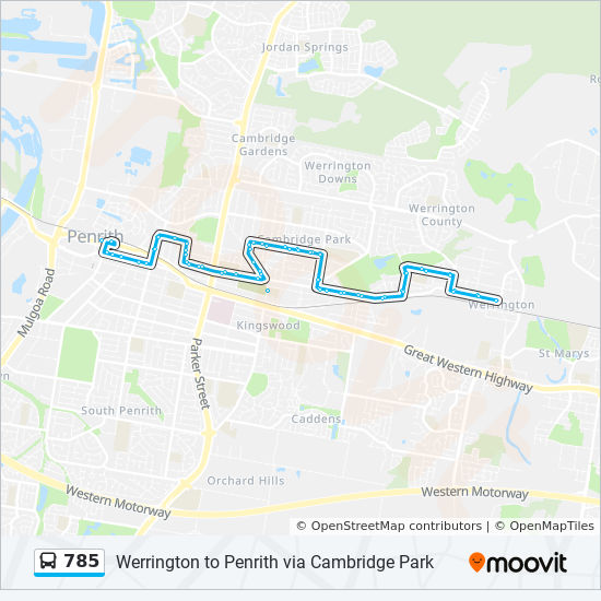 785 Route Schedules Stops Amp Maps Penrith