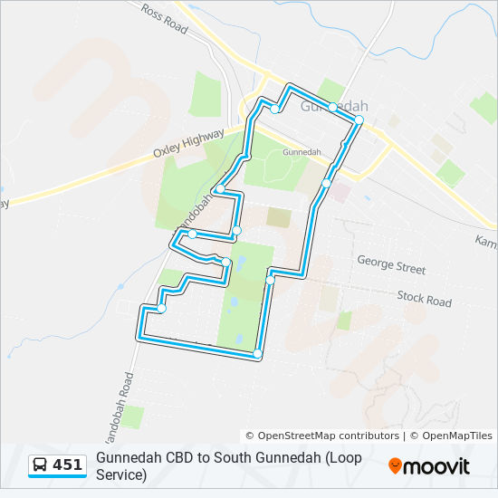 451 Route Schedules Stops Amp Maps Gunnedah Cbd To South