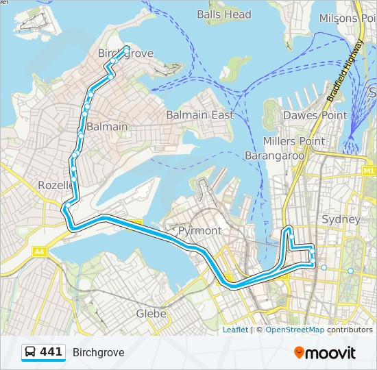 441 Route Time Schedules Stops Amp Maps Birchgrove