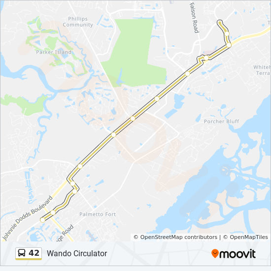 42 Route: Time Schedules, Stops & Maps - Wando High on