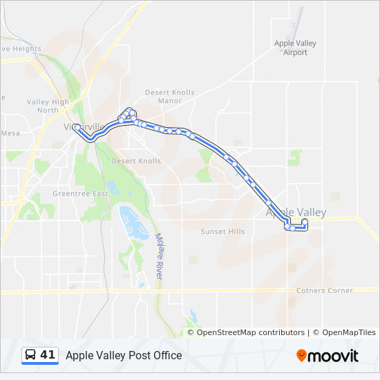 41 Route: Time Schedules, Stops & Maps - Victorville on route 22 map, route 17 map, route 33 map, route 2 map, route 12 map, route 5 map, route 18 map, route 101 map, route 6 map, route 1 map, route 23 map, route 70 map, route 30 map, route 91 map, route 53 map, route 20 map, route 202 map, route 50 map, route 60 map, route 90 map,