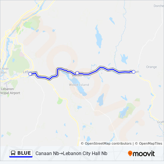 Blue Route Time Schedules Stops Maps Lebanon City Hall Nb