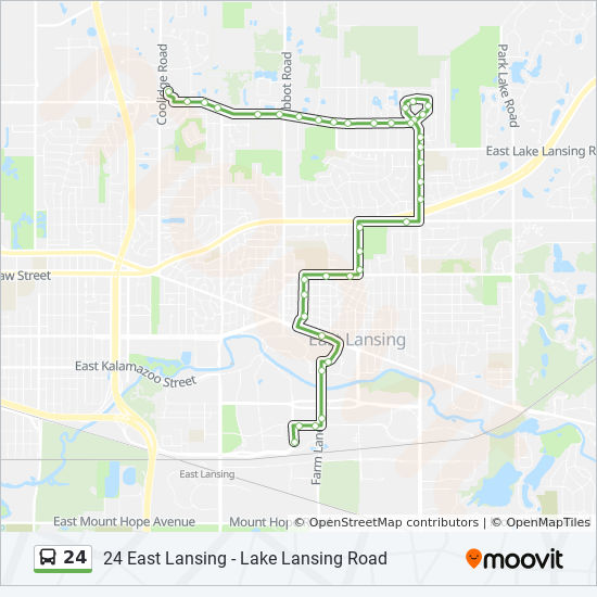 24 Route: Time Schedules, Stops & Maps - 24 East Lansing - Lake ...