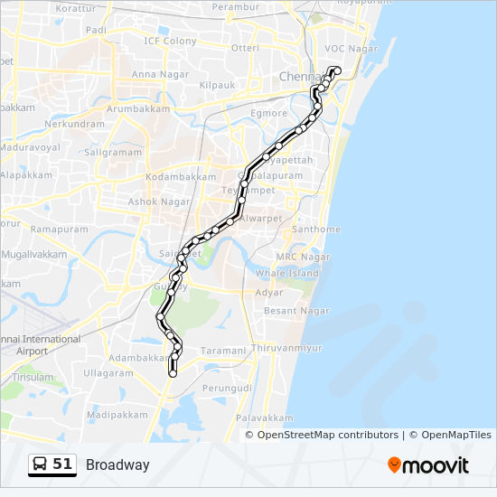 51 Route: Time Schedules, Stops & Maps - Tambaram West