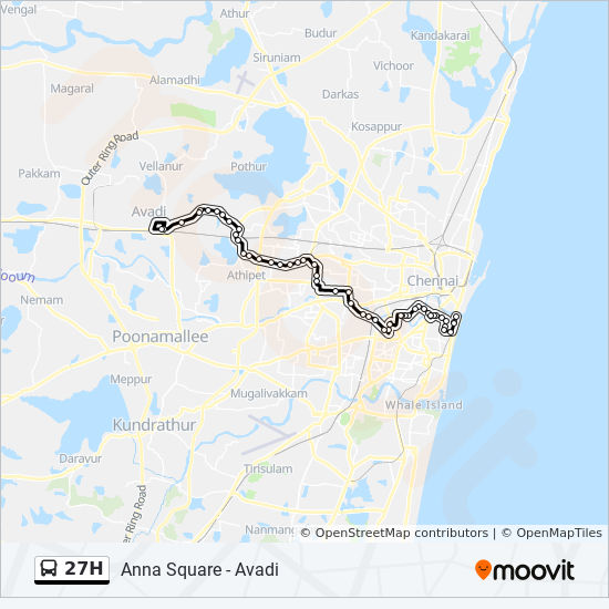 27H Route: Time Schedules, Stops & Maps - Avadi