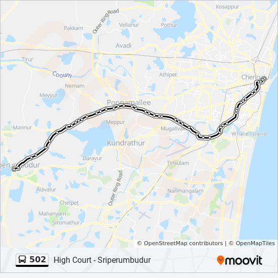 502 Route Time Schedules Stops Amp Maps High Court