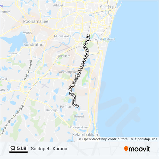 51b Route Time Schedules Stops Amp Maps Karanai