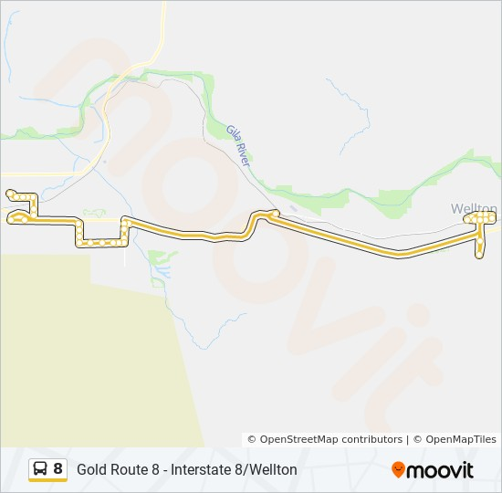 Street Map Of Yuma Arizona.8 Route Time Schedules Stops Maps Arizona Avenue William
