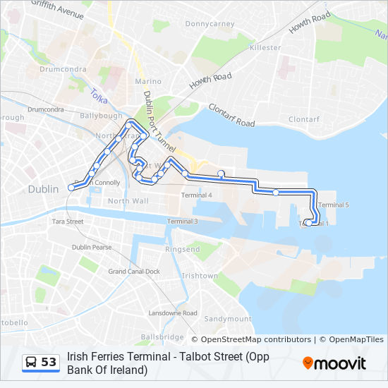 Detailed Map Of Ireland Pdf.53 Route Time Schedules Stops Maps Irish Ferries Terminal