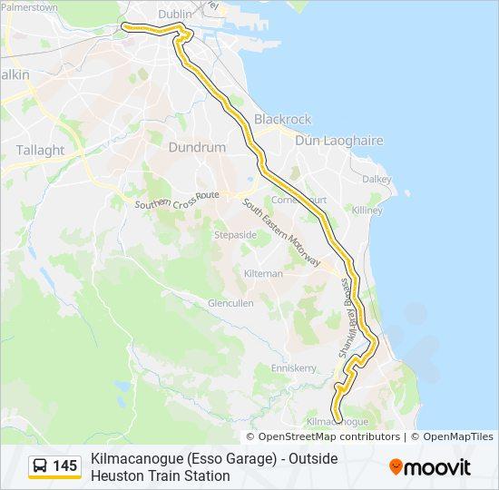 Linie 145: Fahrpläne, Haltestellen & Karten - Kilmacanogue ...