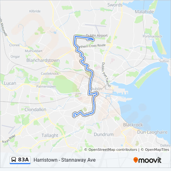 83a Route Time Schedules Stops Amp Maps Harristown Bus