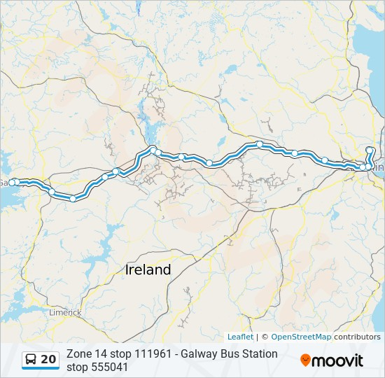 Galway On Map Of Ireland.20 Route Time Schedules Stops Maps Dublin Airport Galway Bus
