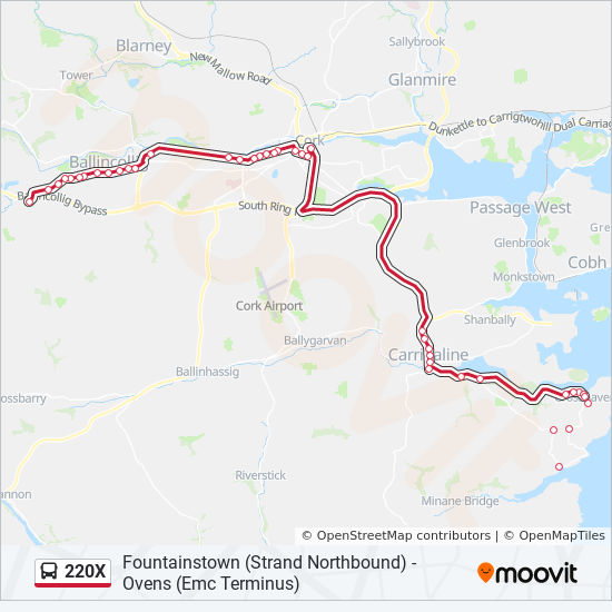 220x Route Time Schedules Stops Amp Maps Ovens Emc