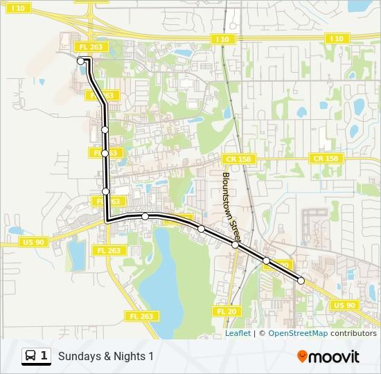 Línea 1: horarios, mapas y paradas - Tennessee St.