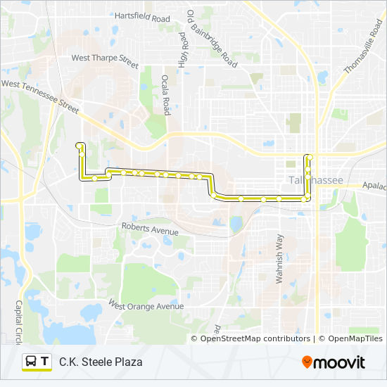 T Route: Time Schedules, Stops & Maps - Tallahassee ...
