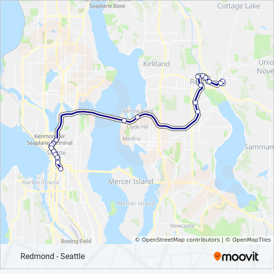 545 Route Time Schedules Stops Amp Maps Redmond